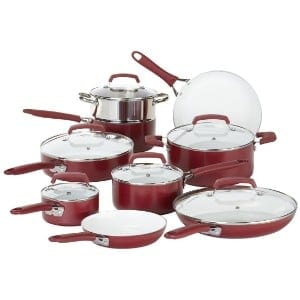 Wearever 2100087606 15 Piece Ceramic Ptfe Pfoa & Cadmium Free Nonstick Cookware Set Product Image