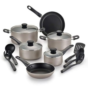Wearever B022sf Complete Nonstick Dishwasher Safe Cookware Set, 15 Piece Product Image