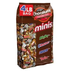Snickers, Twix, 3 Musketeers & Milky Way Minis Size Candy Variety Mix