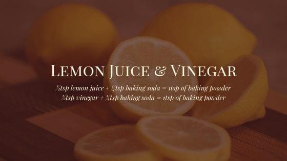 Lemon Juice & Vinegar