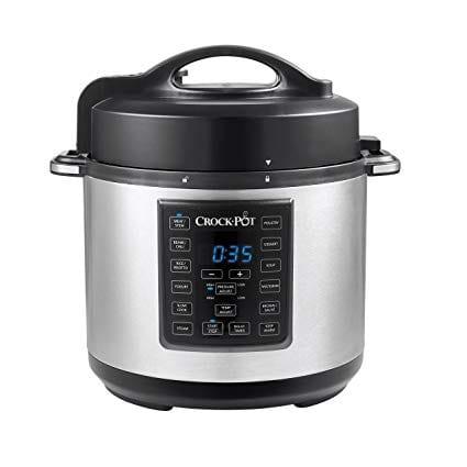 Crock Pot 6 Quart 8 In 1 Multi Use Express Crock Programmable Pressure Cooker