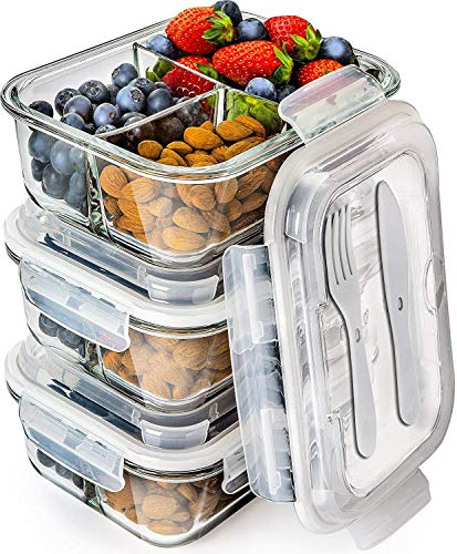 Glass Meal Prep - Bento Box