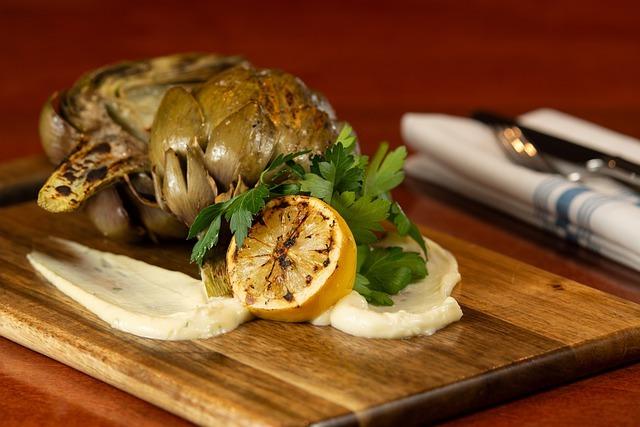 artichoke, fresh, food