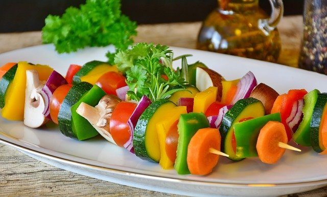 vegetable skewer, vegetables, grilled vegetables