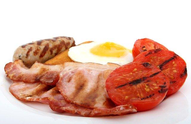 bacon, bread, breakfast