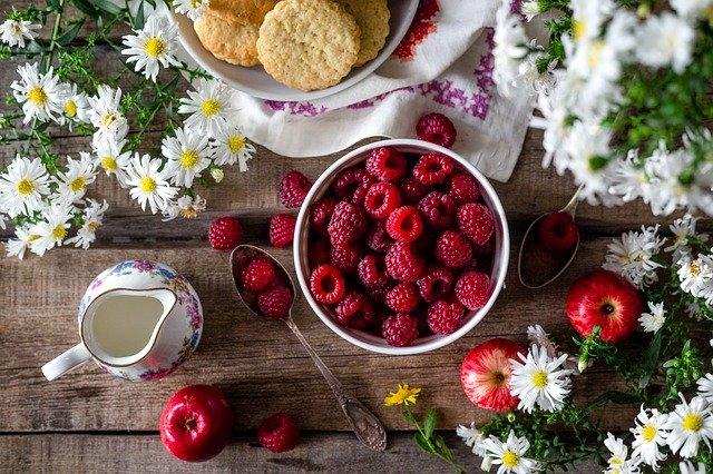 raspberry, berry, summer