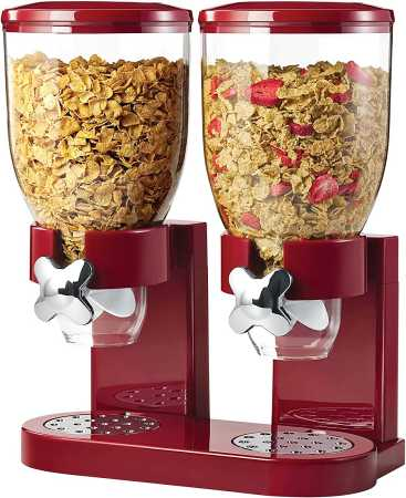Honey- Can- Do Double Cereal Dispenser with Portion Control
